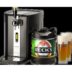 Bierzapfanlagen - Zapfanlage PerfectDraft + Beck´s Pils Fass 6 Liter + 2x 50cl Gläser