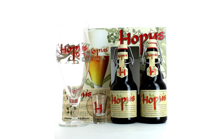 Coffrets cadeaux verre et bière - Coffret Hopus (2 bières 2 verres)