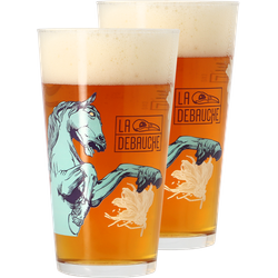 Beer glasses - Pack 2 verres La Débauche - 40cl