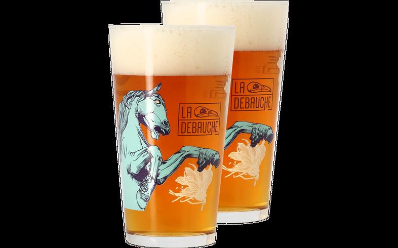 Verres à bière - Pack 2 verres La Débauche - 40cl