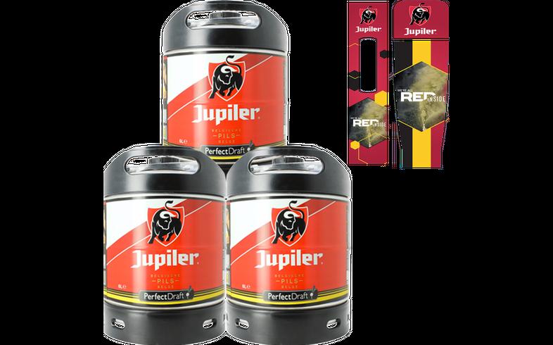 Fûts de bière - Pack 3 fûts 6L Jupiler + 1 magnet