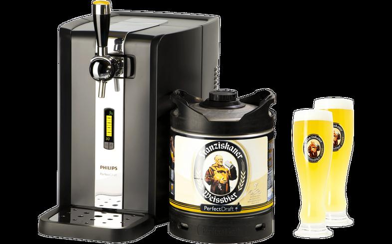 Tireuse à bière - Pack Tireuse Perfectdraft Franziskaner Weissbier + 2 verres Franziskaner Weissbier - 50 cl
