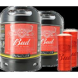 Fusti - Fusto Bud PerfectDraft 6L + 2 bicchieri Alu Cup in regalo! - 2-Pack