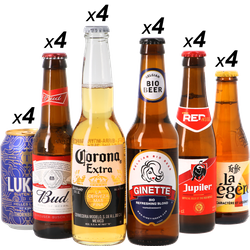 assortiments - Mega Pack Lager - Pack de 24 bières