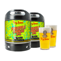 Fûts de bière - Pack 2 fûts 6L Tiny Rebel Pineapple Express IPA + 2 verres Tiny Rebel offerts