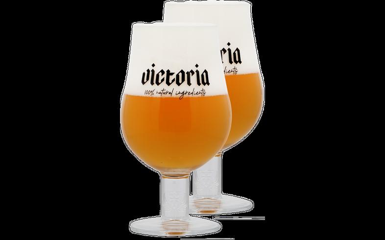 Biergläser - Pack 2x 33cl Victoria Gläser