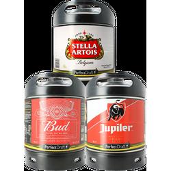 Fusti - Fusto Stella Artois, Bud e Jupiler PerfectDraft 6L - 3-Pack