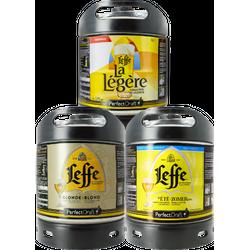 Fässer - Leffe Blond - Leffe d´été - Leffe Légère Sommerbiere PerfectDraft 3er Pack Fässer 6 liter - Mehrweg