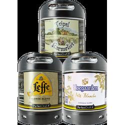 Fusti - Fusto Tripel Karmeliet, Leffe Blonde e Hoegaarden Blanche - 3-Pack