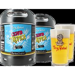 Fûts de bière - Pack 2 fûts 6L Tiny Rebel Clwb Tropica + 2 verres Tiny Rebel - 50cl