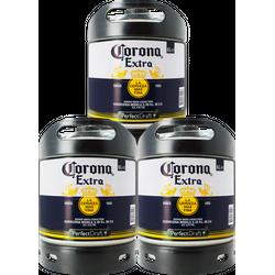 Fûts de bière - Pack 3 Fûts 6L de Corona