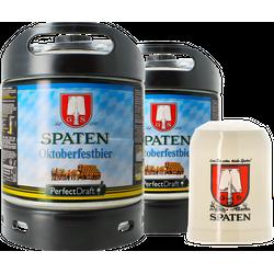 Fässer - Pack 2x Spaten Oktoberfest + 1x 50cl Steinkrug PerfectDraft 6 Liter Fässer - Mehrweg