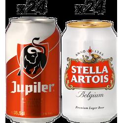 Big packs - Pils Monster Pack - Jupiler & Stella Artois 48X35.5CL -  Gratis Verzending