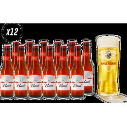 Bierpakketten - Bud 12-pack + Kings of the game Ajax glas