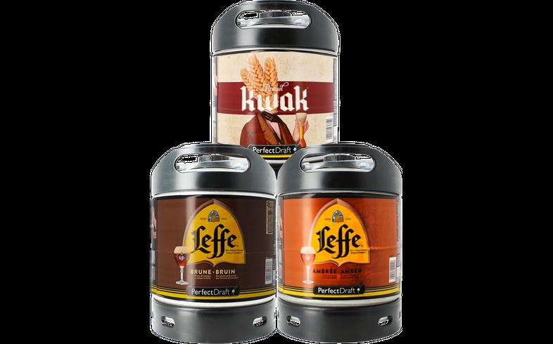 Kegs - Assortiments 3 fûts : Leffe Brune - Leffe Ambrée - Kwak
