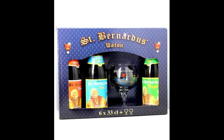 Home - Coffret Saint Bernardus (6 bouteilles + 2 verres 33cl)