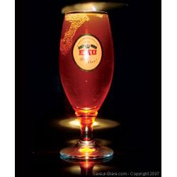 Verres à bière - Verre Eku 28 à pied - logo blanc