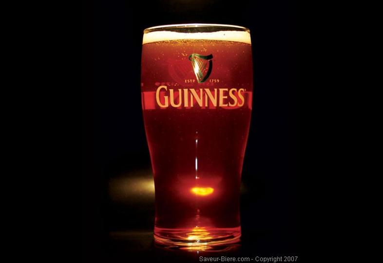 Ölglas - glass Guinness plat - 50cl