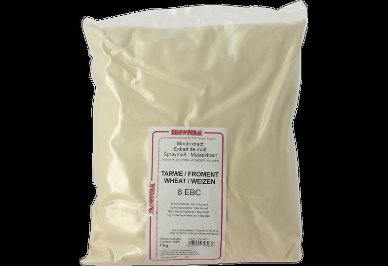 Extrait de malt - Extrait de malt poudre froment Brewferm 1kg 8 EBC