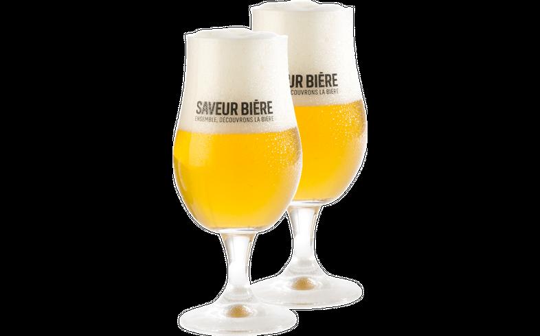 Verres à bière - Pack de 2 verres Saveur Bière 33cl