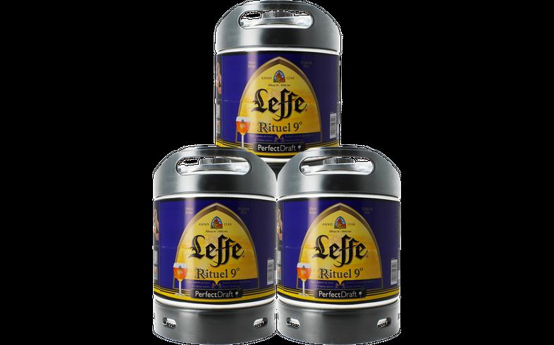 Fûts de bière - Pack 3 fûts 6L Leffe Rituel
