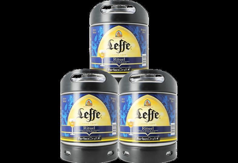 Kegs - Leffe Rituel 6-litre PerfectDraft kegs - Triple Pack