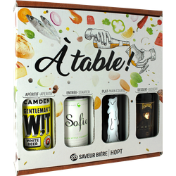 Accessoires et cadeaux - Coffret A Table, 4 bières
