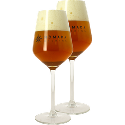 Beer glasses - 2 Beer Glasses Nomada - 30 cl