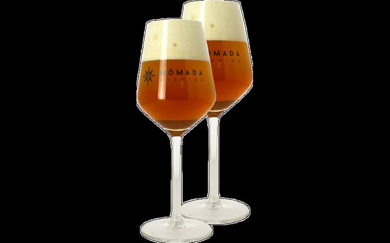 Beer glasses - 2 Beer Glasses Nomada - 30 cl