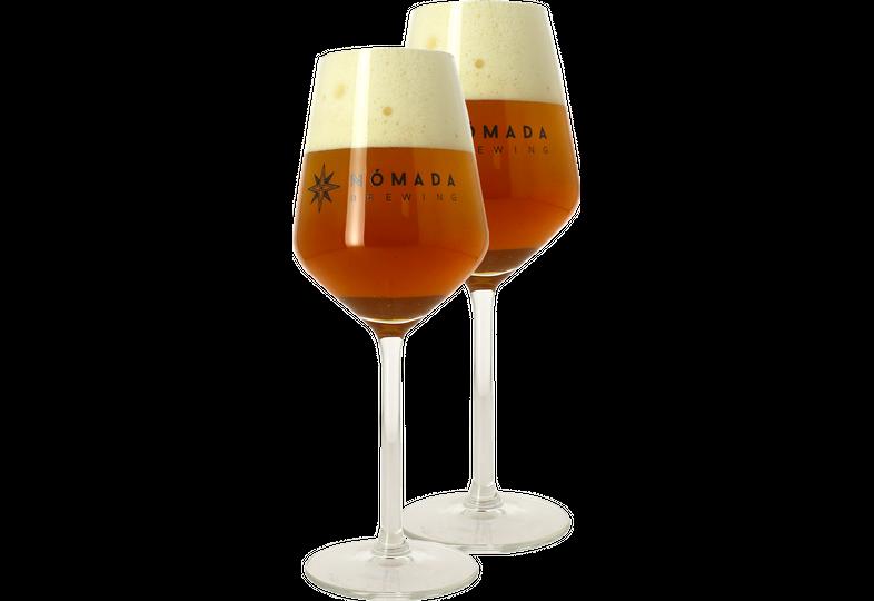 Verres à bière - Pack 2 Verres Nómada - 30 cl