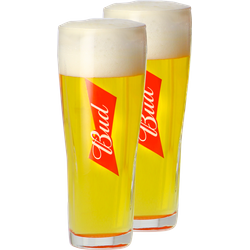 Beer glasses - Verre Bud - 25 cl