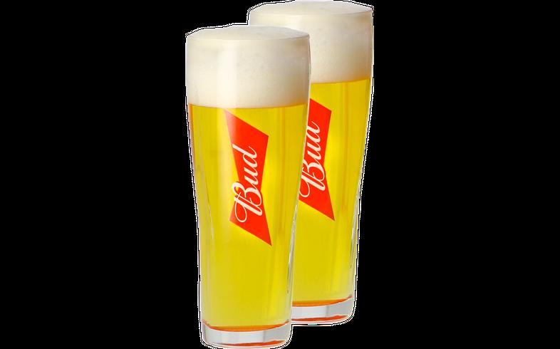 Bierglazen - Pack 2 Verres Bud - 25 cl