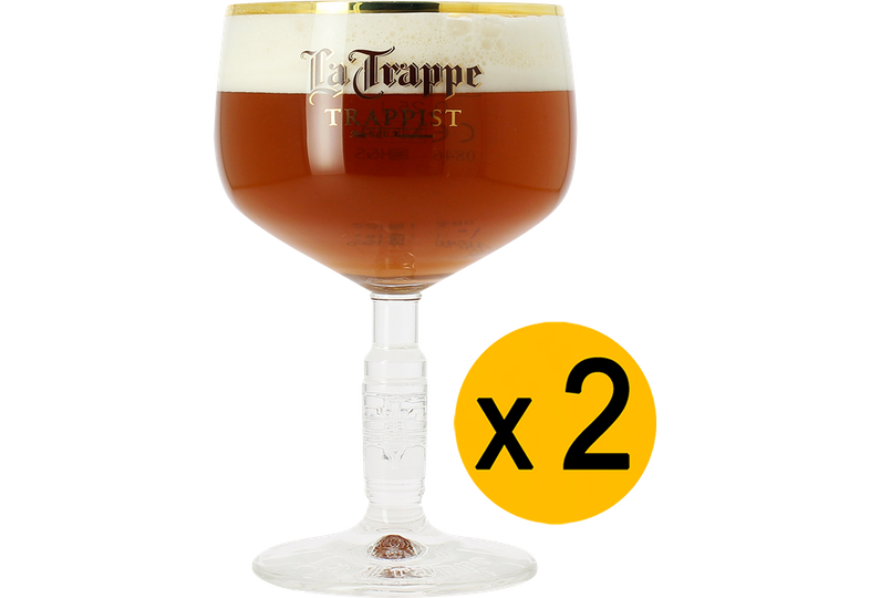 Verres à bière - Pack 2 Verre La Trappe - 25cl