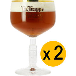 Beer glasses - 2 La Trappe glasses - 25cl