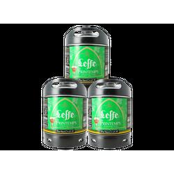 Fässer - Leffe de Printemps, Frühling Bier PerfectDraft 3-pack Fässer 6 liter - Mehrweg