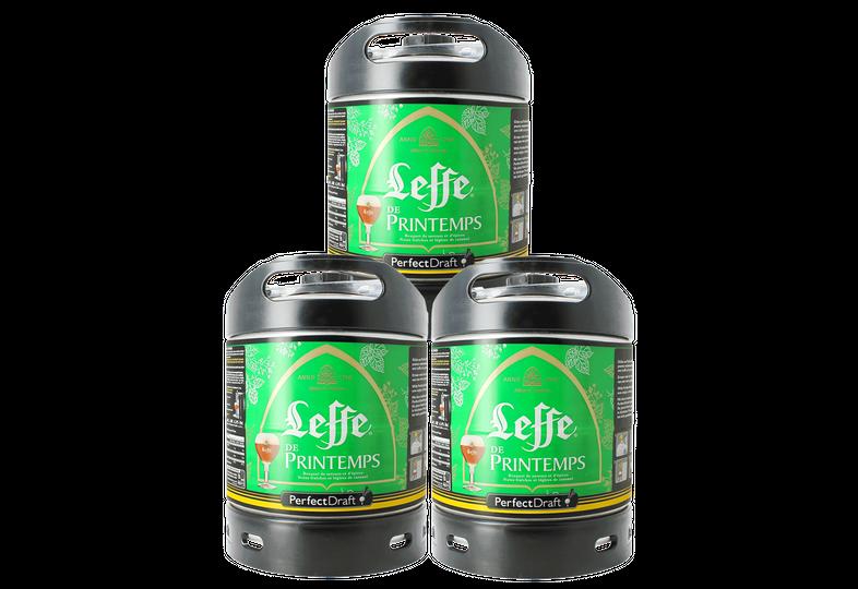 Fûts de bière - Pack 3 fûts 6L Leffe de Printemps