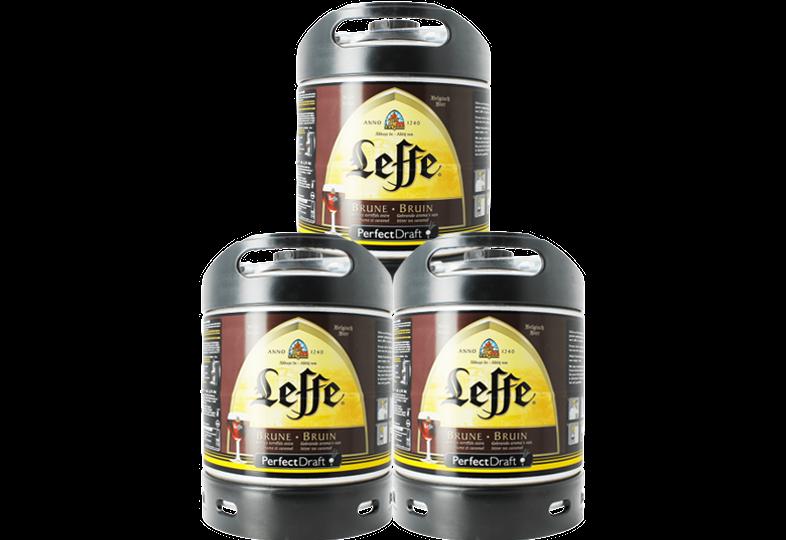 Fässer - Leffe Brune PerfectDraft 3-pack Fässer 6 liter - Mehrweg