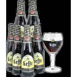 Geschenke - Pack 6 Leffe Brune, 1 Glass