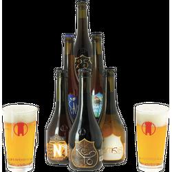 Gåvor - Pack Birra Del Borgo 6 bières et 2 verres