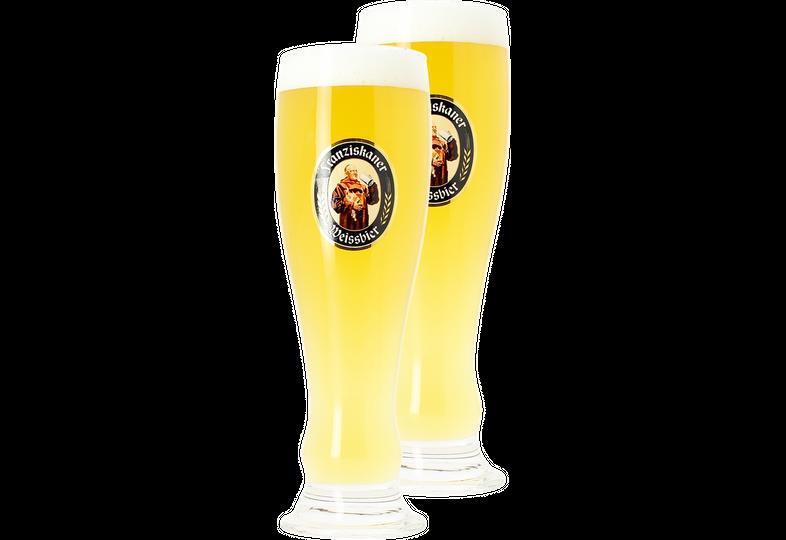 Verres à bière - Pack 2 verres Franziskaner Weissbier - 50 cl