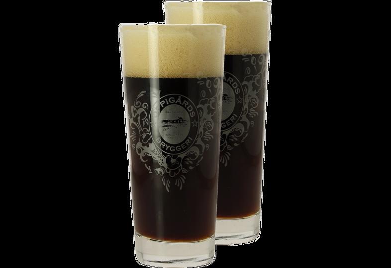 Biergläser - Pack 2x 25cl Oppigårds Gläser