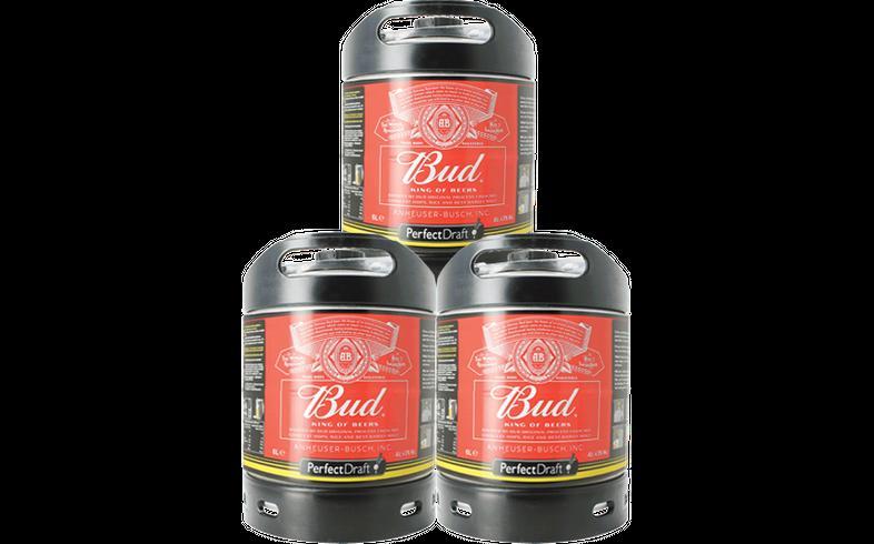Fatöl - Budweiser Bud 6L PerfectDraft Fat 3-Pack