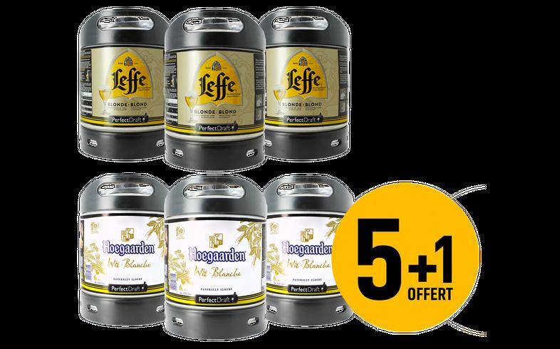 Fässer - Pack 5+1 Gratis Hoegaarden-Leffe PerfectDraft Fässer 6 Liter - Mehrweg