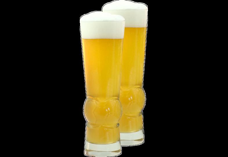 Bierglazen - 2 Voetbalglazen- 30 cl