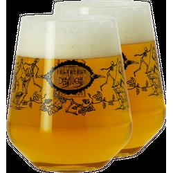 Verres à bière - Pack 2 verres La Débauche - 25 cl