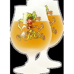 Beer glasses - 2 Cuvée des Trolls 25 cl glasses