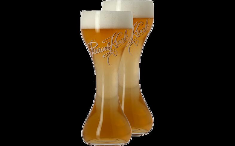 Flaschen Bier - Pack 2x 20cl Pauwel Kwak Gläser