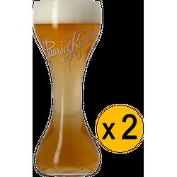 Bouteilles - Pack 2 Verres Kwak Fond plat - 20 cl