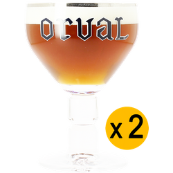 Beer glasses - 2 Orval 33cl glasses