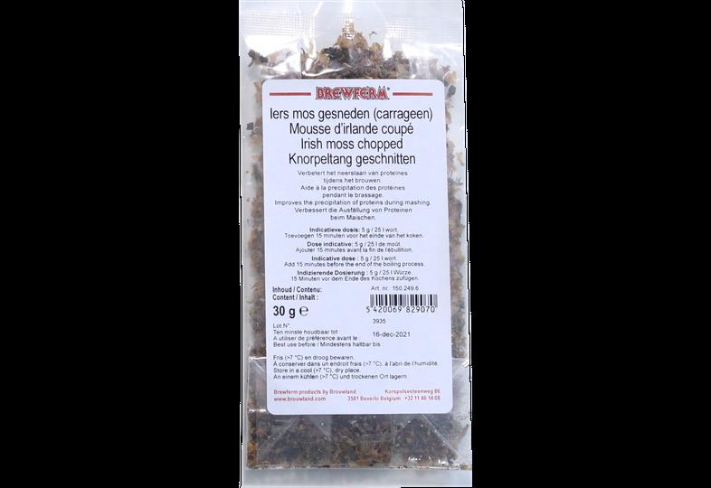 Additifs de brassage - Lichen carraghen coupé / Mousse Irlandaise / Clarifiant - 30 g